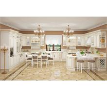Кухня Афина Оро, цвет - белый с золотой патиной, стиль - прованс